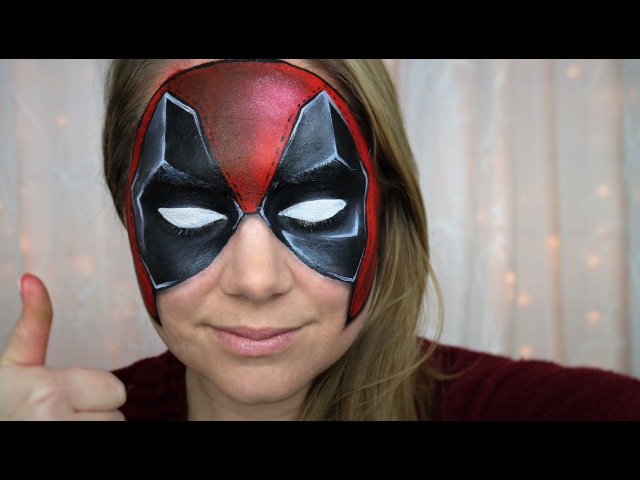 Deadpool Makeup and Face Paint