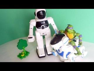 Мультик про Роботов и Черепашек Ниндзя. Видео с детскими игрушками
