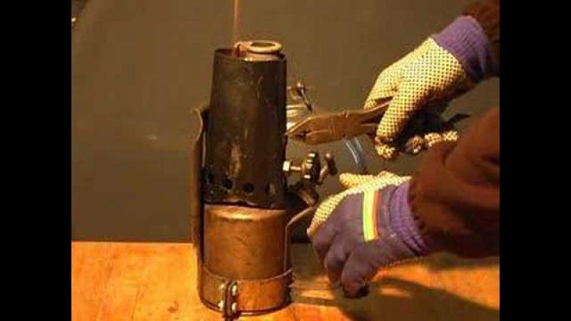 Eine Heizlampe für den Lanz Bulldog vorbereiten