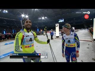 Победная стрельба и финиш Мартена Фуркада - Франция побеждает - Биатлон, Рождественская гонка 2015