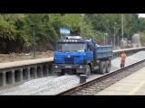 Tatra 815 při vykládce kamene  unload stone Татра 815