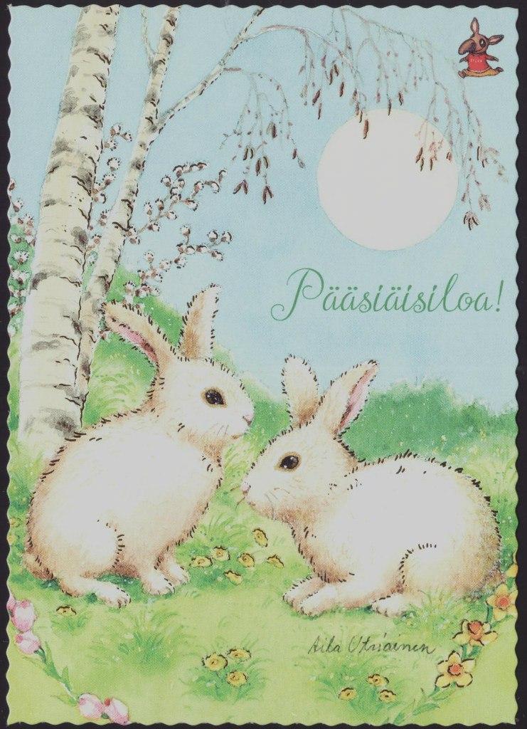 Картинки красивые, финская открытка с пасхой
