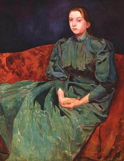Эмиль Бернар Émile Bernard 1868-1941 Madeleine, la hermana del pintor Мадлен, сестра художника