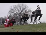 Dидеооткрыткf по случаю наступающих рождественских праздников от Boston Dynamics