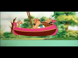 Asterix and Obelix in Boat