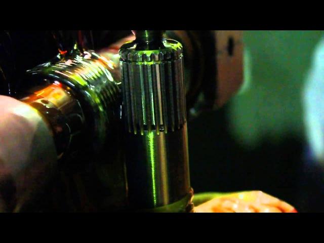 Нарезаем шлицы на палку привода для гранаты ШРУС