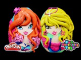 GIANT Bloom Stella Surprise Eggs Play Doh - Winx Club My Little Pony Inside Out Mystery Minis Toys