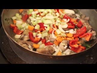 Тушеный цыплёнок. Дженнаро Контальдо. Видео-рецепт. Итальянская кухня.