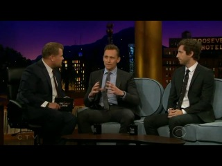 Tom Hiddleston on The Late Late Show with James Corden, April 25 2016