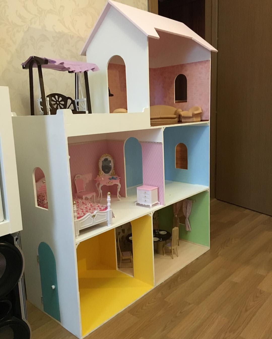 Кукольный домик своими руками - 66 фото создания игрушечного 755