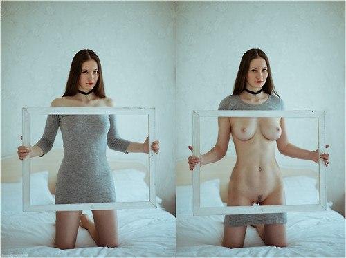 Femme espagnol se met nue caresse