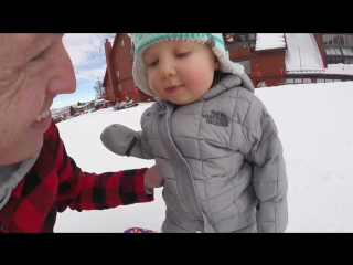 Sloans First Time on the Slopes!