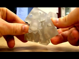 Этот куб напечатан на 3D принтере, будущее наступает