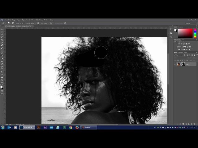 Процесс вырезания волос в Фотошопе