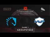 Liquid vs. MVP - Game 1, Groupstage @ TI6, Dota 2