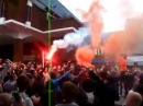 Crystal Palace Protest - Holmesdale Fanatic Ultras arrive