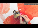 How to paint a realistic hairy bee in watercolor by Anna Mason