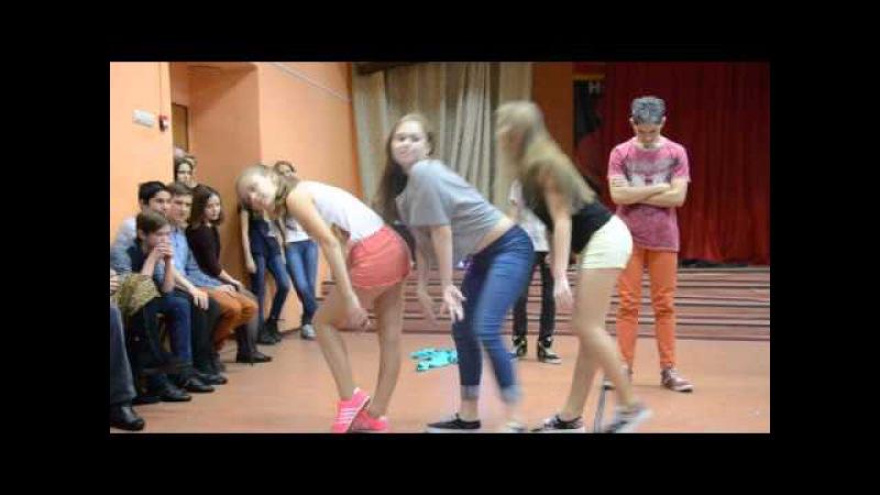Новогодняя дискотека 2015 в лицее №104. Танец 9А