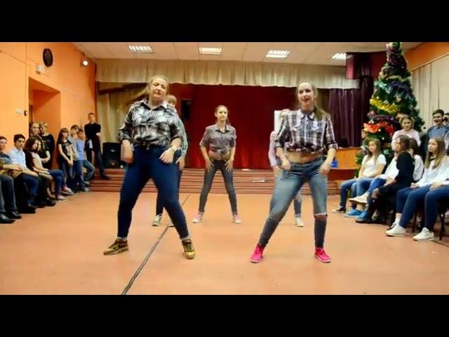 Новогодняя дискотека 2015 в лицее №104. Танец 11А