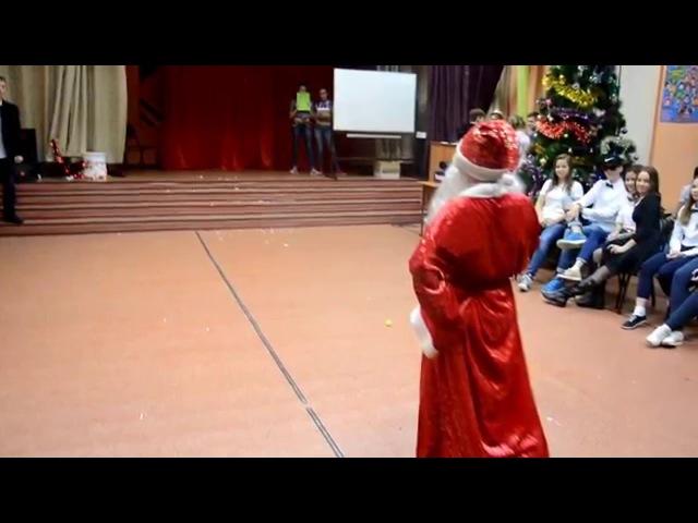 Новогодняя дискотека 2015 в лицее №104. Дед Мороз и Снегурочка