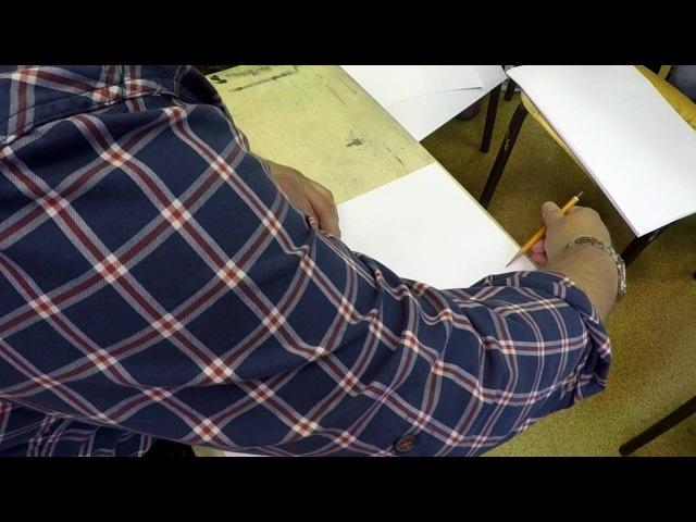 Академический рисунок №4 Как провести ровный круг и построить элепсы...
