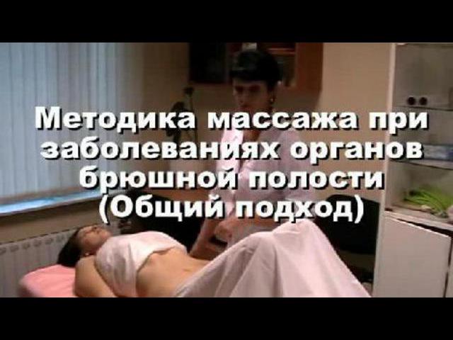 Массаж при заболеваниях органов брюшной полости. Общий подход. (Medic Style)