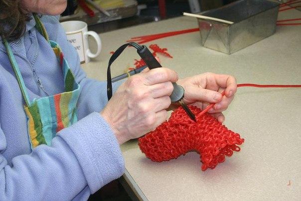 стеклянное вязание
