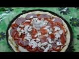 Как я готовила пиццу))