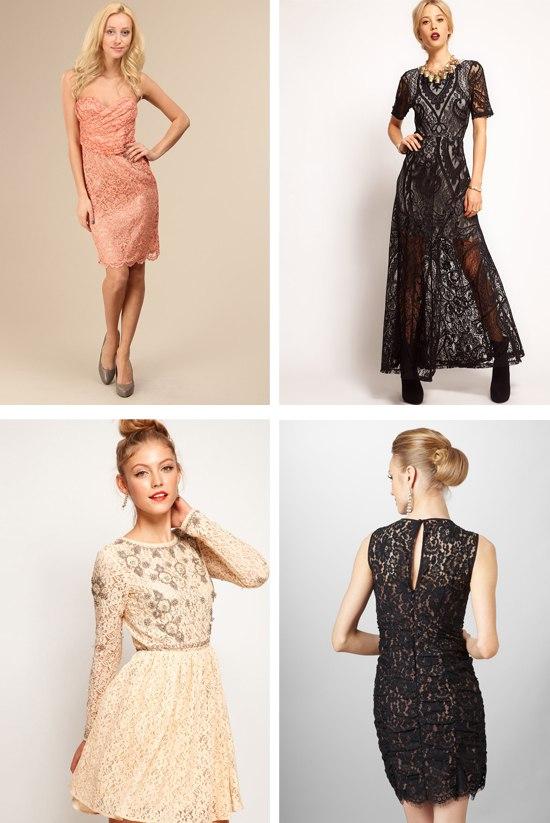Мода на кружевное платье