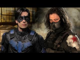 Найтвинг Vs Зимний Солдат / Nightwing Vs Winter Soldier.Сражение (2016) [1080p]