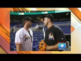 William Levy @willylevy29 llega con el sabor del ron al estadio de los Miami Marlins Univision