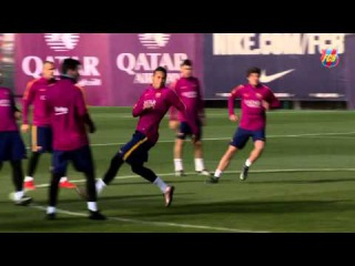FC Barcelona training session: The Cup is back on the menu