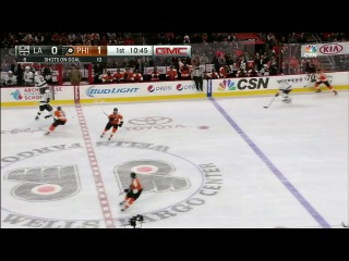 NHL 15-16. Philadelphia Flyers - Los Angeles Kings 17.11.15. НХЛ Лос Анджелес - Филадельфия 1тайм