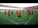 Тренировка Шахтера на стадионе «Башакшехир Фатих Терим»