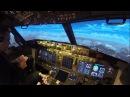 Approaching Innsbruck in a Boeing 737-800 Simulator