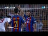 Arda Turan Amazing Goal - Barcelona vs Sevilla 3-0 (HD) 2016