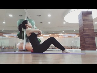 """문's 일상,식단,운동 on Instagram: """"#필라테스#코어#운동#goodnight 거울체크사항ㅋㅋ- 머리정&#475"""
