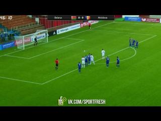Беларусь 1:0 Молдова. Залеский пен. 45 минута