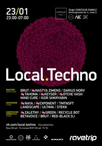 23/01 LOCAL.TECHNO 6.0 @ Contour Family