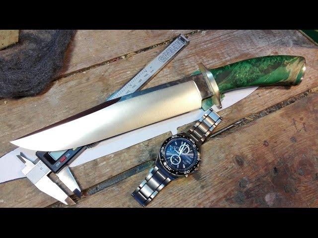 Как сделать нож Боуи -ножны How to make a Bowie knife - scabbard