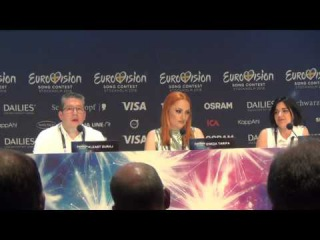 ESCKAZ in Stockholm: Eneda Tarifa (Albania) - press-conference part 1