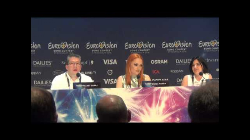 ESCKAZ in Stockholm: Eneda Tarifa (Albania) - press-conference part 1