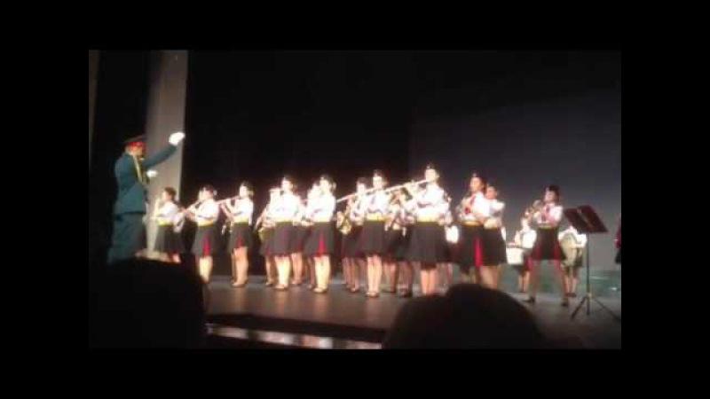 Выступление выпускниц кадетского корпуса 1770 на отчётном концерте 18 мая 2016