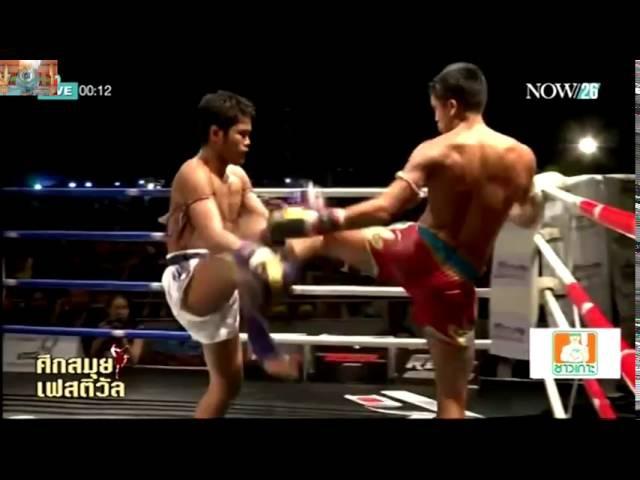 Muay Thai Sangmanee Sor Tienpo Vs Muangthai PK Saenchai Samui Festival 24 Jan 2016 muay thai sangmanee sor tienpo vs muangth