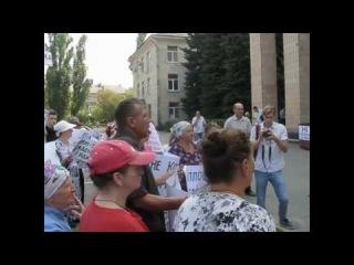 Пикет за отставку Марона у стен Светловодского городского Совета