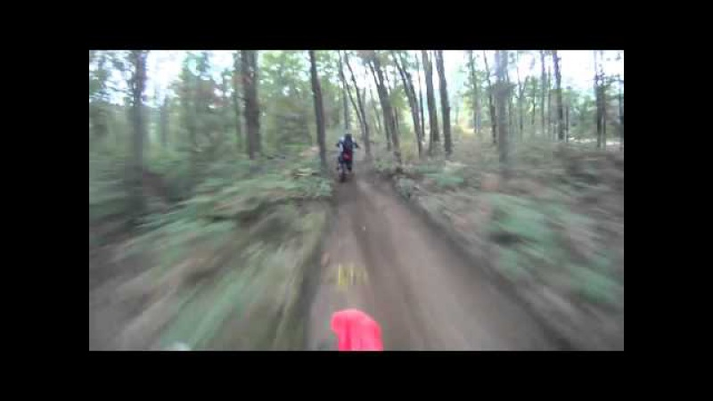 Xr600 and crf450 on Fast Trails - Little O trails Michigan