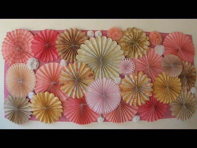 Roseta de papel - Paper Fan - Rosettes