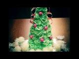 Как сделать новогоднюю ёлочку из салфеток. how to make a Christmas tree out of napkins