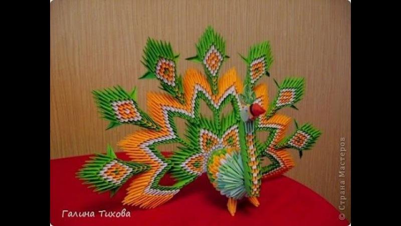 How to make peacock 3D Origami - Hướng dẫn xếp công xòe đuôi cực đẹp