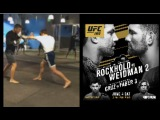 Luke Rockhold training for Chris Weidman rematch at UFC 199